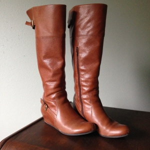 Cognac brass buckle boots. --Nordstrom Rack Fall 2012
