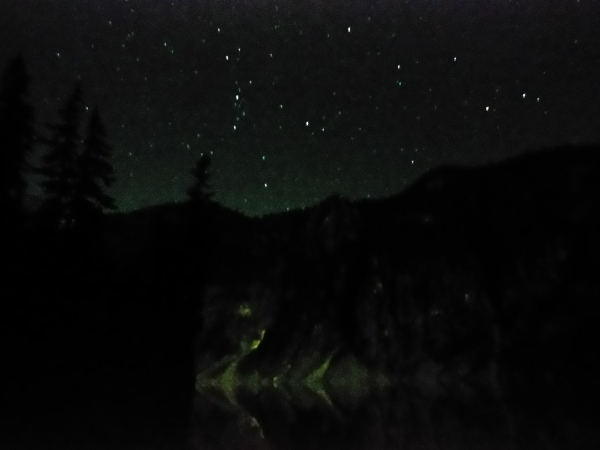The stars were amazing on the first night.