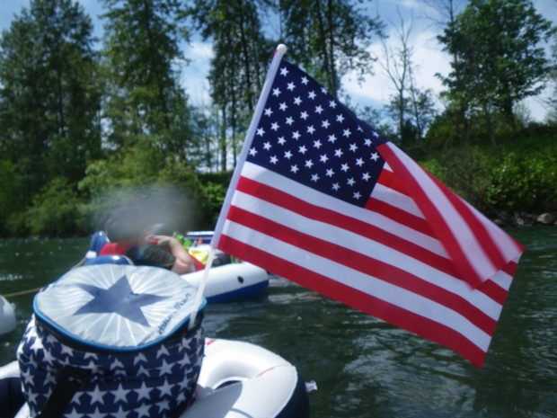 Patriotic Floating Cooler